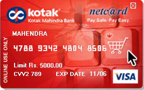 Kotak bank forex card