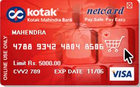 Max limit of forex card kotak bank