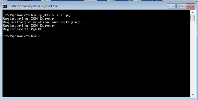 Python Com File Execution